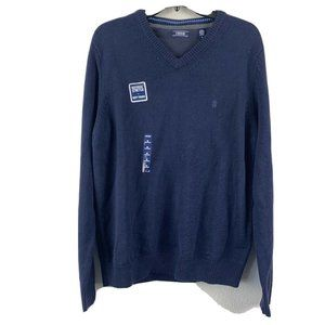 IZOD Mens V Neck Cotton Blend Pullover Sweater